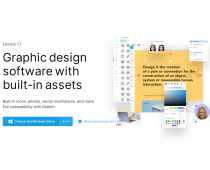 Lunacy - Free Graphic Design Software with Built-In Assets